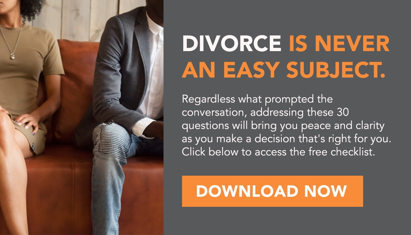 30 Questions To Ask Before Getting A Divorce