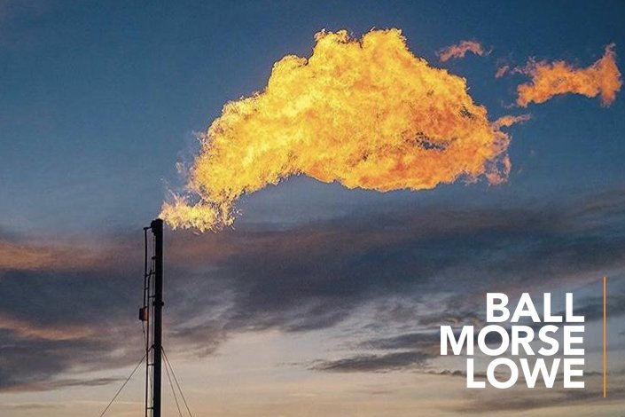 Flaring rig in Texas